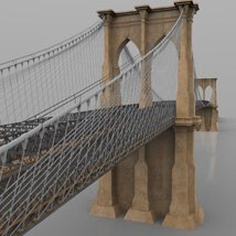 Brooklyn Bridge for 3ds and obj - Extended License image 8