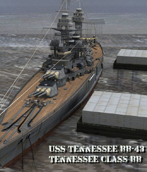 USS Tennessee BB-43 for Poser by VanishingPoint