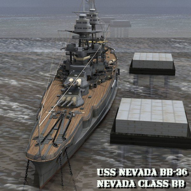U.S.S Nevada - BB-36 for Poser