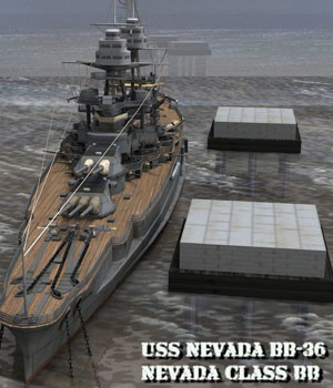 U.S.S Nevada - BB-36 for Poser  3D Models VanishingPoint