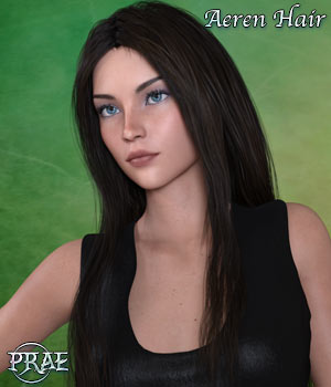 Prae Aeren Hair for G3 G8 Daz 3D Figure Assets prae