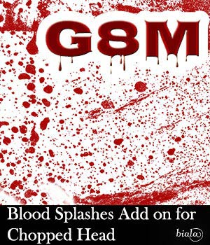 Blood Splashes Add on for Chopped Head G8M 3D Models biala
