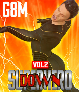 SuperHero Down for G8M Volume 2 3D Figure Assets GriffinFX