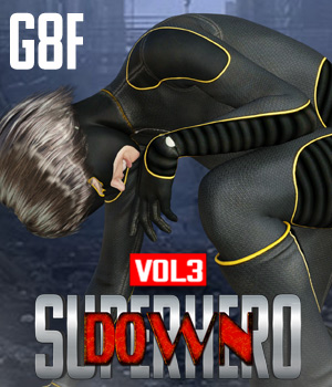 SuperHero Down for G8F Volume 3 3D Figure Assets GriffinFX
