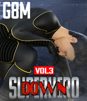 SuperHero Down for G8M Volume 3 3D Figure Assets GriffinFX