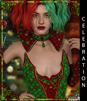 Celebration for Queen of Shadows 3D Figure Assets sandra_bonello