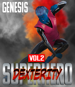 SuperHero Dexterity for Genesis Volume 2 3D Figure Assets GriffinFX