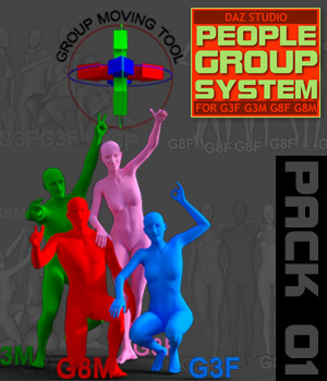 People Group System - Pack01 3D Figure Assets powerage