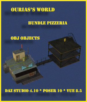 Ourias's world : Bundle Pizzeria 3D Models Ourias3D