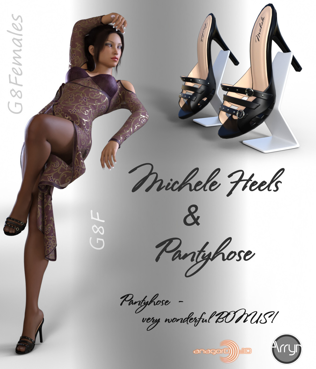Michele Heels and Pantyhose G8F by Arryn