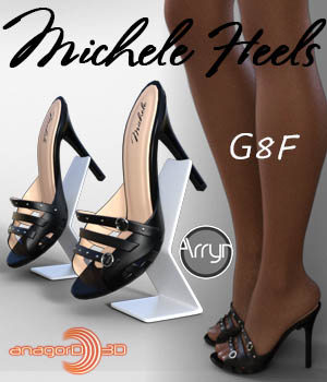 Michele Heels and Pantyhose G8F 3D Figure Assets Arryn