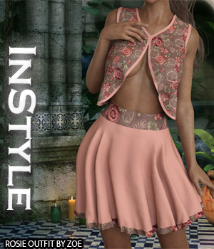 InStyle - Rosie Outfit 3D Figure Assets -Valkyrie-