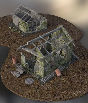 Derelict Buildings  for DAZ Studio  3D Models VanishingPoint