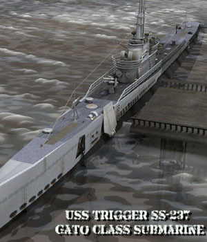 U.S.S Trigger for Poser  3D Models VanishingPoint