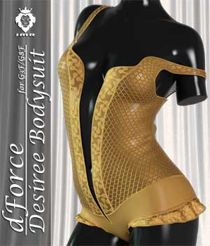 JMR dForce Desiree Bodysuit for G3F and G8F 3D Figure Assets JaMaRe