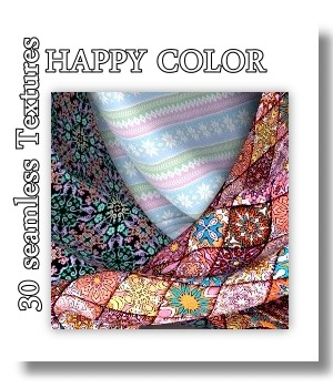 Happy Color -30 Textures MR 2D Graphics Merchant Resources LUNA3D
