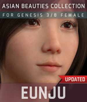 Eunju G3G8F for Genesis 3 and 8 Female 3D Figure Assets gravureboxing