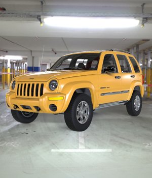 Jeep Liberty 2002 - OBJ/ 3ds  - Extended License 3D Game Models : OBJ : FBX 3D Models Extended Licenses Digimation_ModelBank