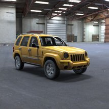 Jeep Liberty 2002 - OBJ/ 3ds  - Extended License image 1
