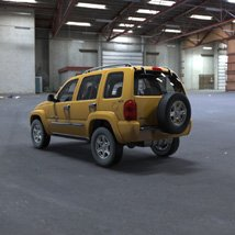 Jeep Liberty 2002 - OBJ/ 3ds  - Extended License image 2