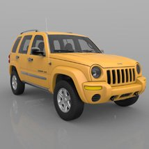 Jeep Liberty 2002 - OBJ/ 3ds  - Extended License image 3