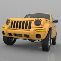 Jeep Liberty 2002 - OBJ/ 3ds  - Extended License image 4