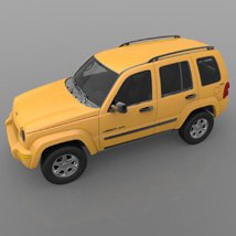 Jeep Liberty 2002 - OBJ/ 3ds  - Extended License image 5