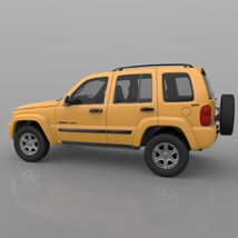 Jeep Liberty 2002 - OBJ/ 3ds  - Extended License image 6
