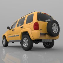 Jeep Liberty 2002 - OBJ/ 3ds  - Extended License image 7