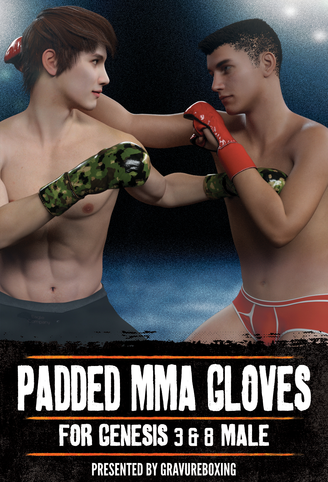 Padded MMA Gloves G3MG8M by gravureboxing