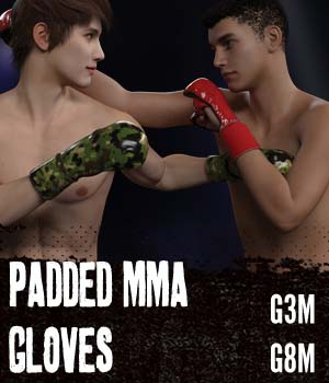 Padded MMA Gloves G3MG8M 3D Models gravureboxing