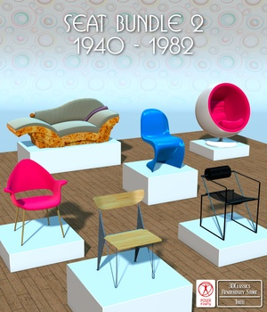 FAMOUS SEATS BUNDLE2 - for Poser  3D Models 3DClassics