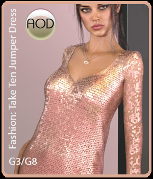 Fashion: Take Ten Jumper Dress G3FG8F 3D Figure Assets ArtOfDreams