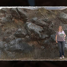 3D Cliff Construction set: Mediterranean Red Rocks image 3
