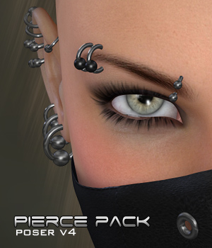 Piercings - Base Pack Poser 3D Figure Assets digiPixel