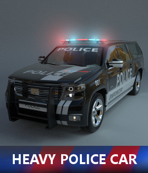 Heavy Police Car 3D Models TruForm