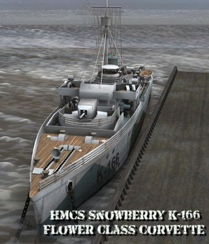HMCS Snowberry - for Poser  3D Models VanishingPoint