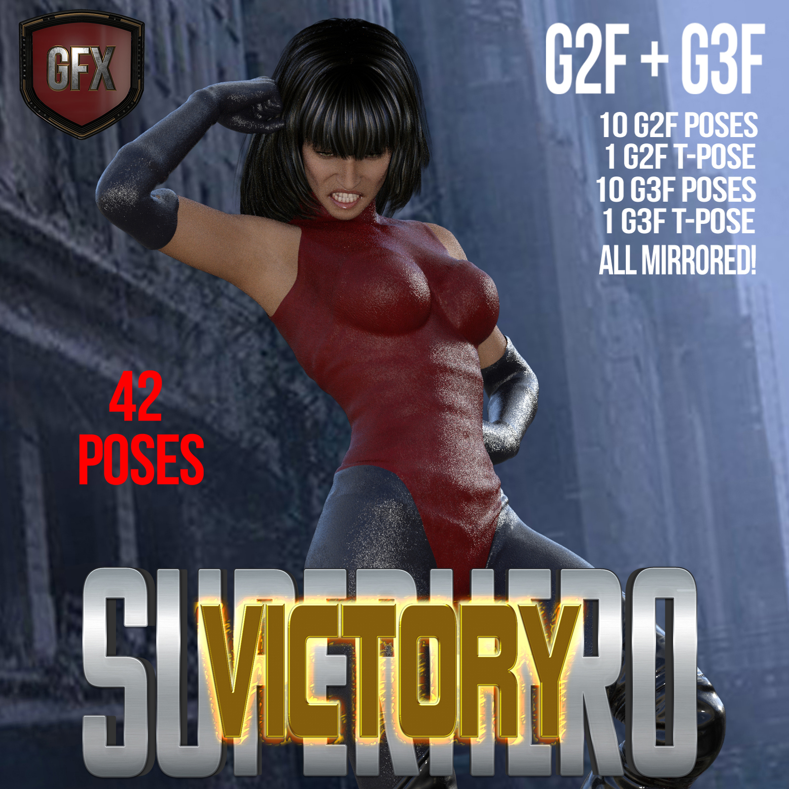 SuperHero Victory for G2F and G3F Volume 1