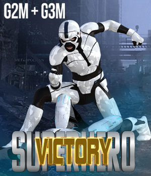 SuperHero Victory for G2M and G3M Volume 1 3D Figure Assets GriffinFX