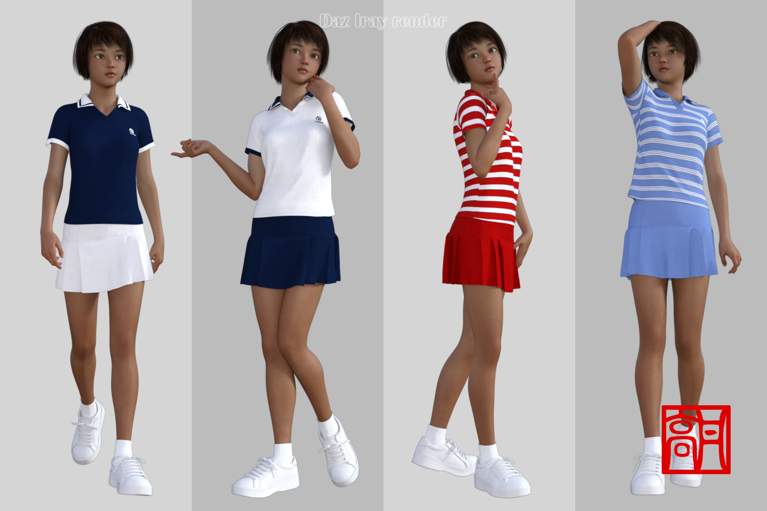 dForce Tennis Outfit for Genesis 8 Female