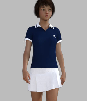 dForce Tennis Outfit for Genesis 8 Female 3D Figure Assets gaodan
