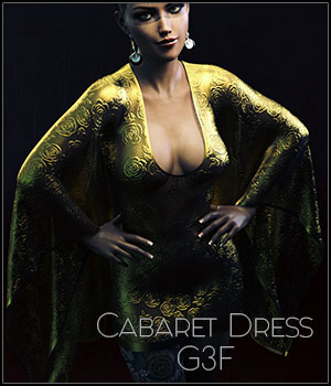 dForce Cabaret Dress G3F 3D Figure Assets SynfulMindz