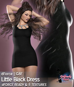 Vex3DS Little Black Dress Genesis 8 Females 3D Figure Assets 3DSublimeProductions