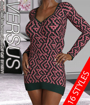 VERSUS - dforce Take Ten Jumper Dress G3F G8F 3D Figure Assets Anagord