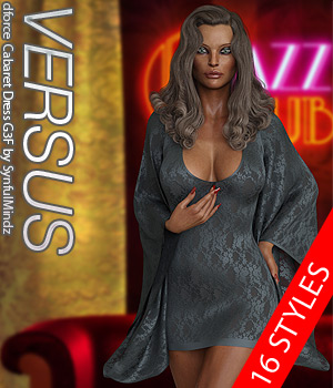 VERSUS - dForce Cabaret Dress G3F 3D Figure Assets Anagord