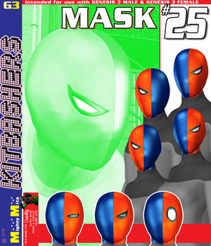 MMKBG3 Mask 025 3D Figure Assets MightyMite