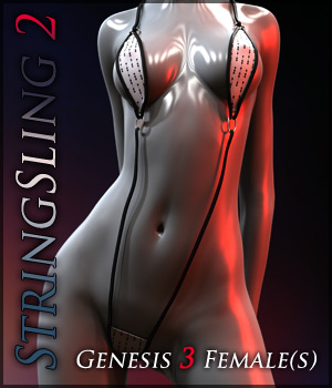 StringSling2 for Genesis 3 Females 3D Figure Assets Quanto