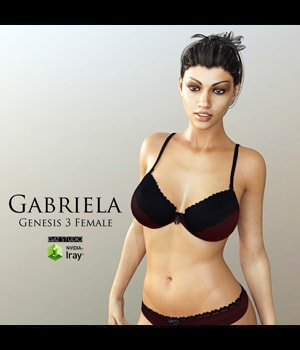 Gabriela for Genesis 3 Female 3D Figure Assets adamthwaites