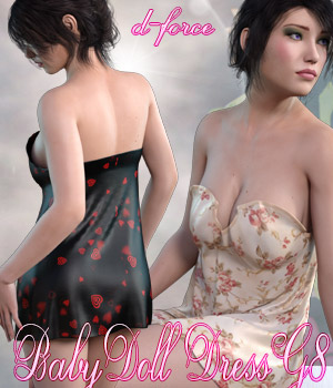 dForce BabyDoll Dress - Genesis 8 3D Figure Assets kaleya