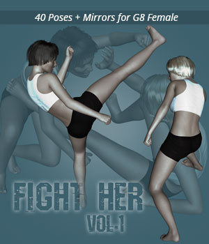Fight Her vol.1 for Genesis 8 Female 3D Figure Assets PainMD